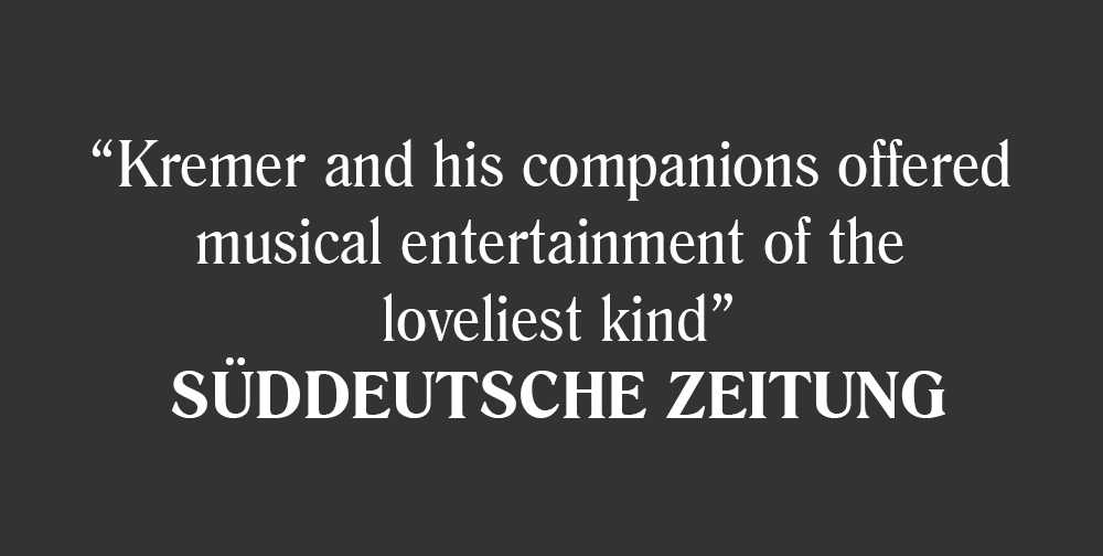 Suddeutsche Zeitung about Gidon Kremer, Kremerata Baltica and Robert Wicke